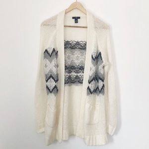 Gap Fairisle Oversized Knit Cardigan